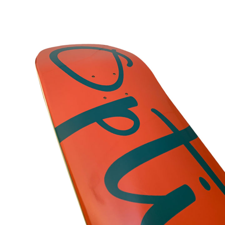 OptionSkateboards Classic Logo Coral1